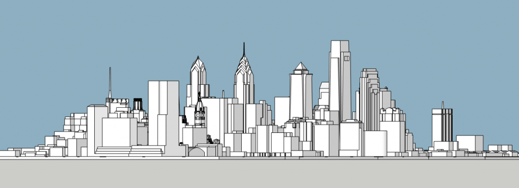 World Trade Square looking southwest. Model by Thomas Koloski