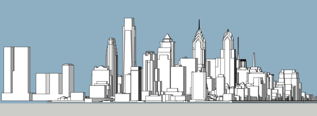 World Trade Square looking northeast. Model by Thomas Koloski