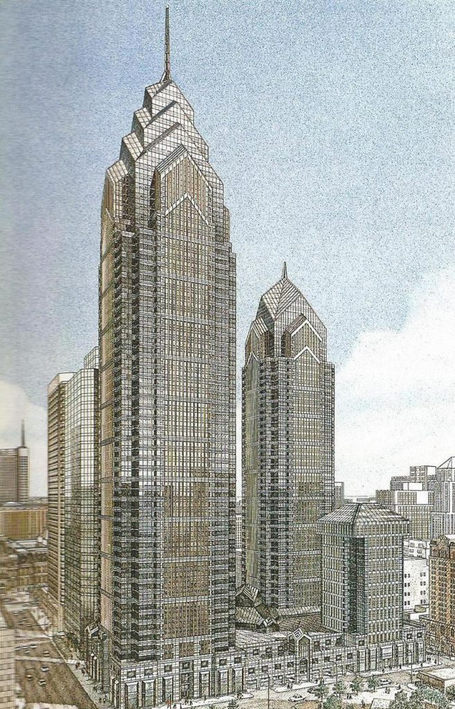 Liberty Place rendering via Jahn/Murphy