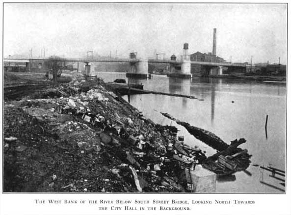 South Street Bridge in 1924. Image via The Redemption of the Lower Schuylkill on phillyh20.org