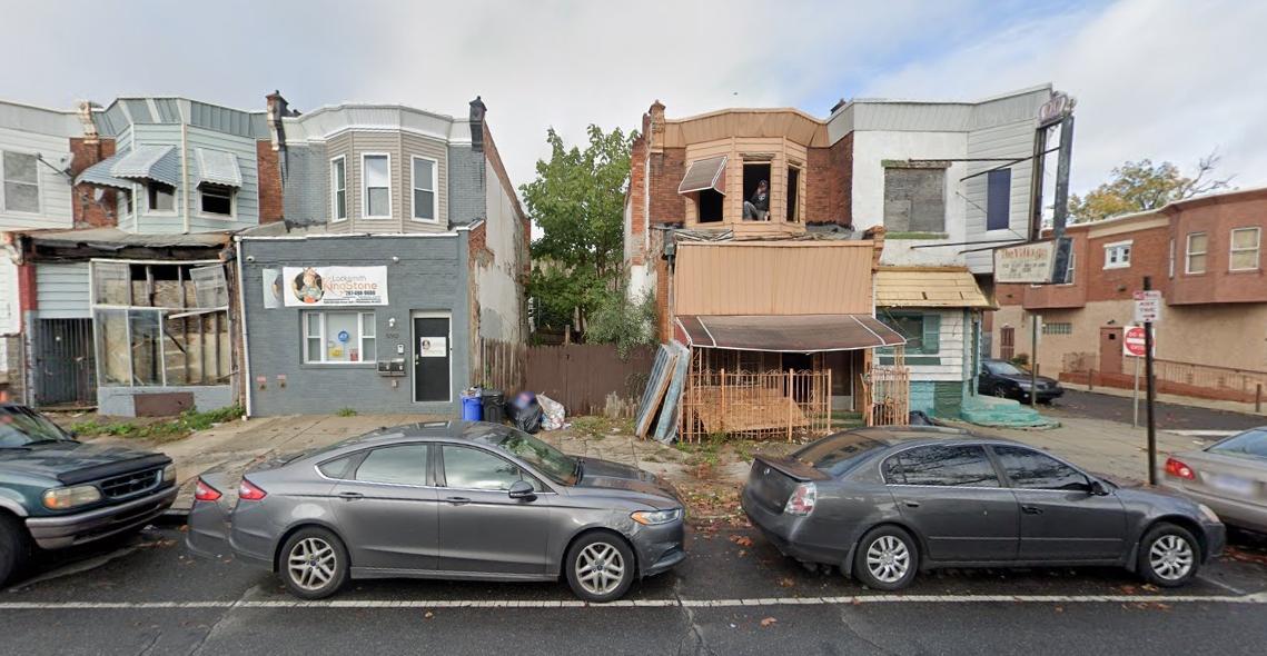 5341 Chestnut Street. Looking north. Credit: Google