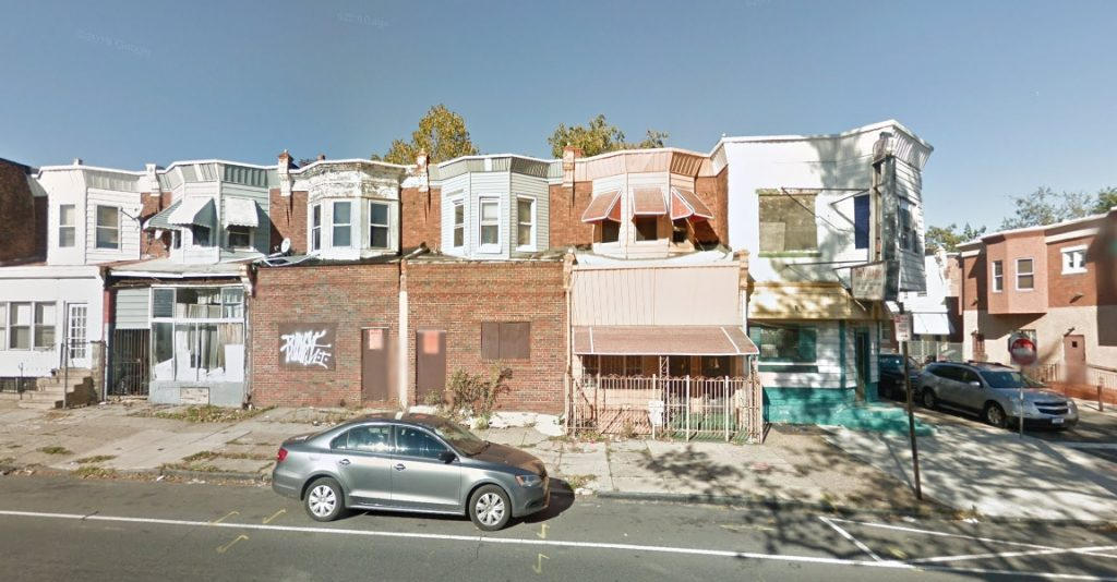 5341 Chestnut Street. October 2014. Looking north. Credit: Google