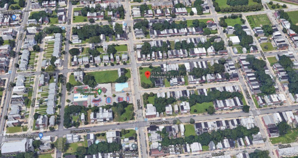 727 North 39th Street. Looking north. Credit: Google