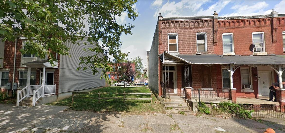 753 North 44th Street. Looking east. Credit: Google