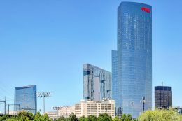 Cira Center, Evo, and FMC Tower from South Street. Photo by Thomas Koloski