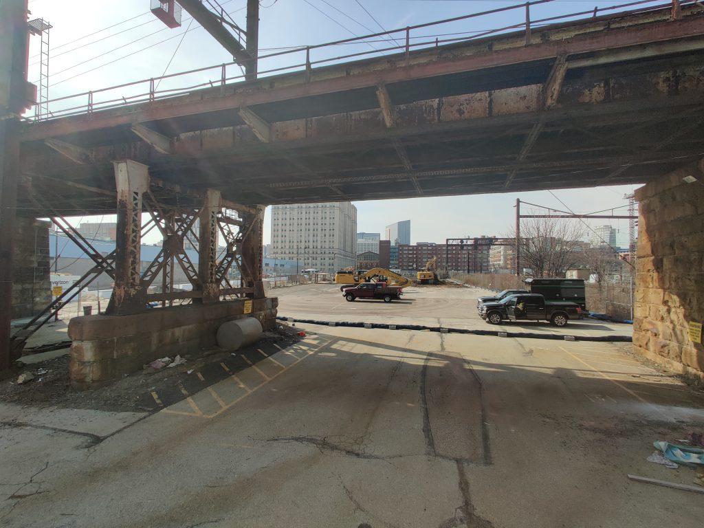 3025 John F. Kennedy Boulevard site looking west. Photo by Thomas Koloski