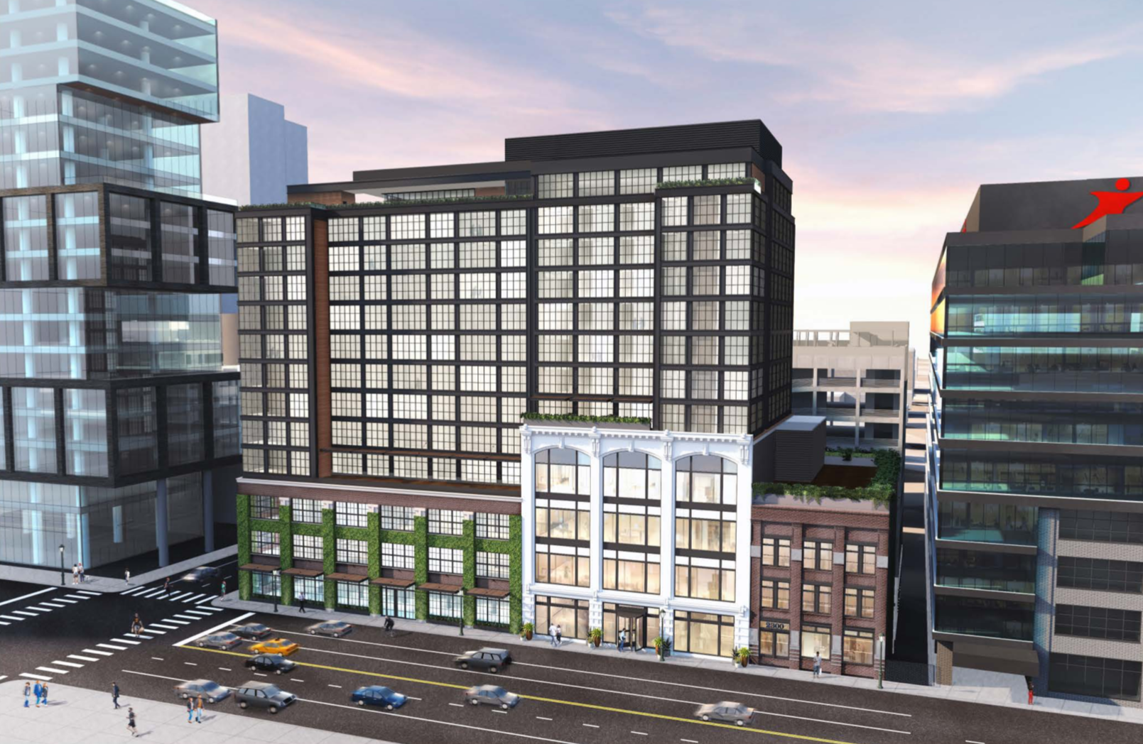 Rendering of 2300-24 Market Street via Tantillo Architecture.