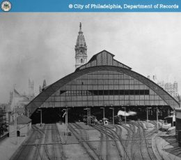 Broad Street Station with City Hall. Photo from City of Philadelphia, Department of Records