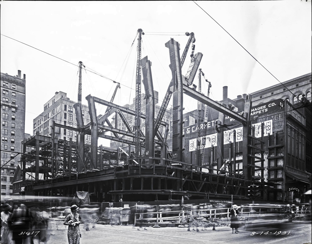 PSFS Hotel construction. Image from phillyhistory.org