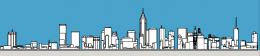 Philadelphia skyline 1987 south elevation. Models and image by Thomas Koloski