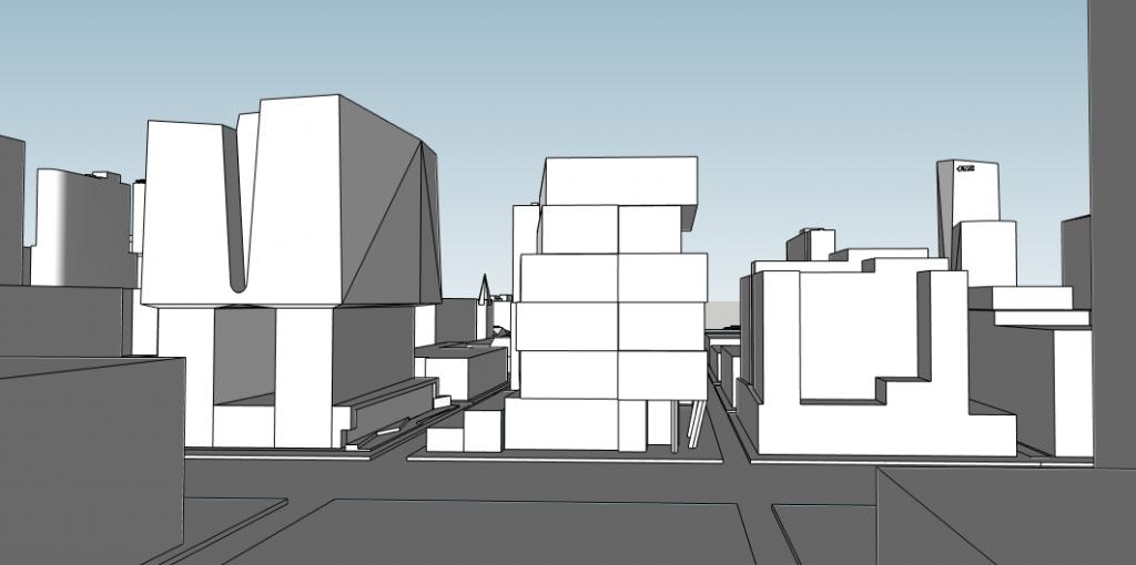 21M, 222 Market Street, and 2300-2324 Market Street. Image and models by Thomas Koloski