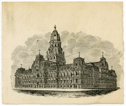 City Hall prior design sketch. Image via Thomas Ustick Walter