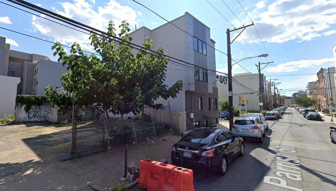 1436 Parrish Street. Looking southwest. Credit: Google