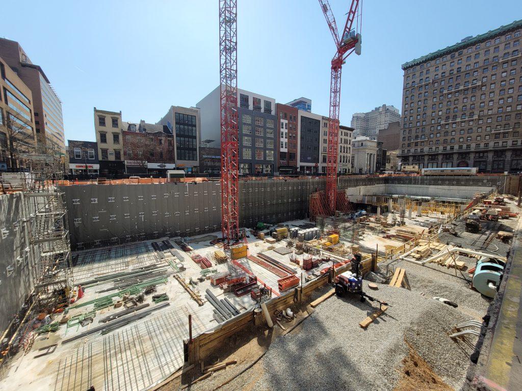 East Market Phase 3 site looking southwest. Photo by Thomas Koloski