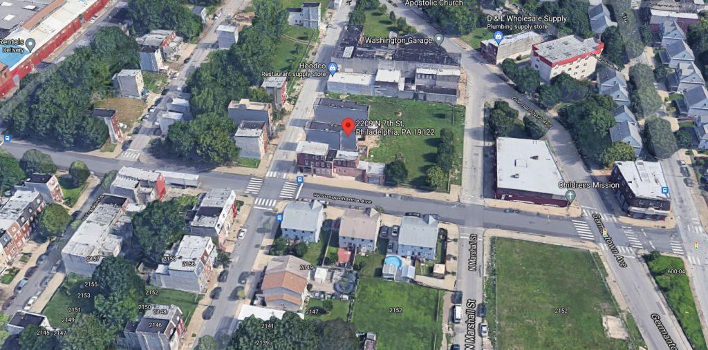 2209 North 7th Street. Looking north. Credit: Google