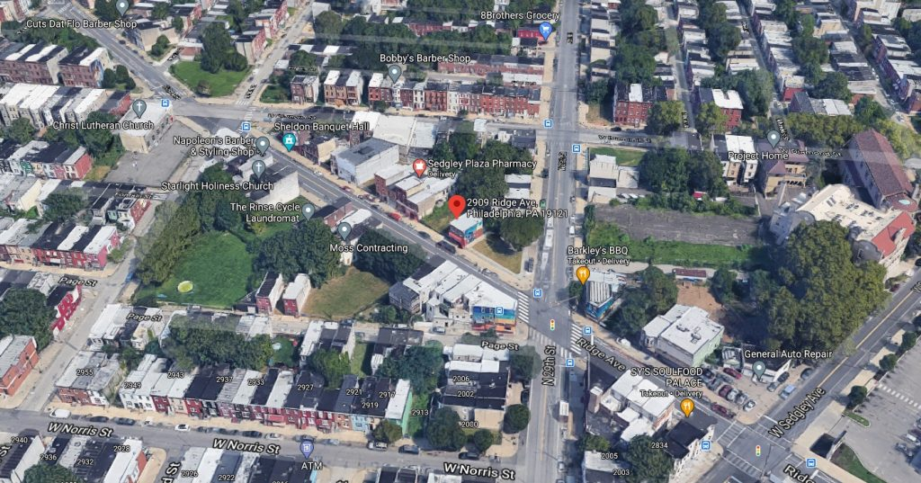 2909 Ridge Avenue. Looking north. Credit: Google