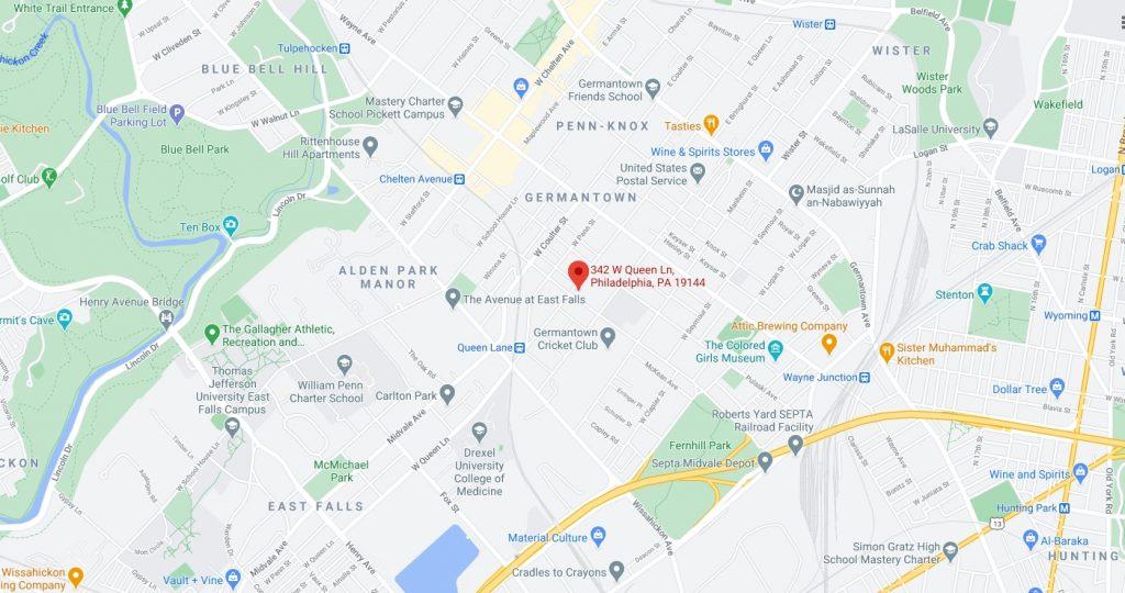 342 West Queen Lane. Credit: Google