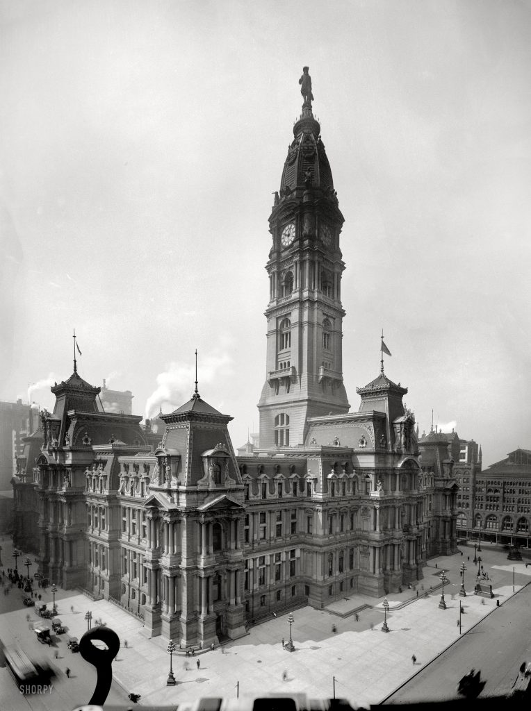 Philadelphia City Hall 1910. Image via shorpy.com