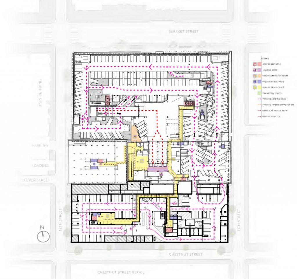 Underground level (P1) at East Market. Credit: National Real Estate Development / Ennead Architects / Morris Adjmi / BLTa via CDR