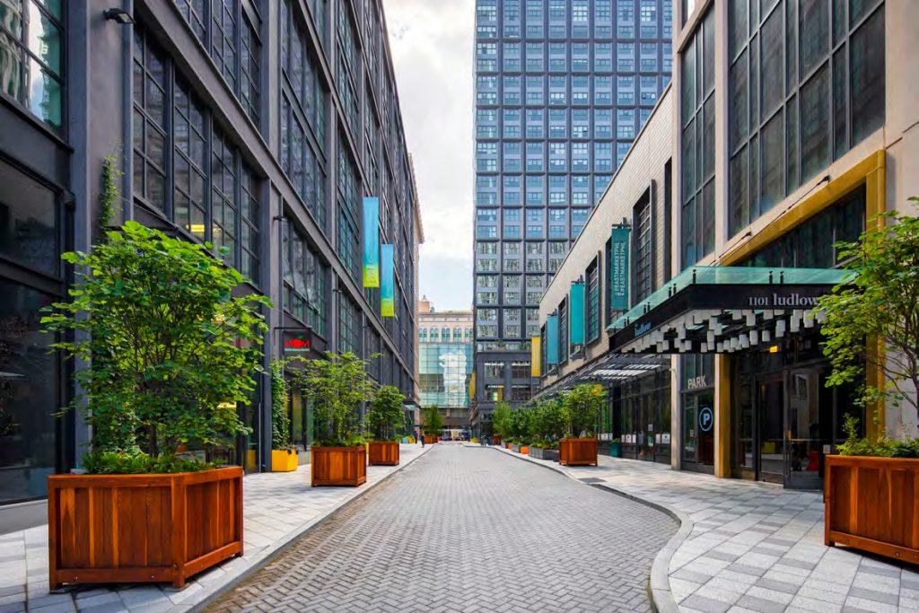 Chestnut Walk at East Market Phase 1 and 2. Credit: National Real Estate Development / Ennead Architects / Morris Adjmi / BLTa via CDR