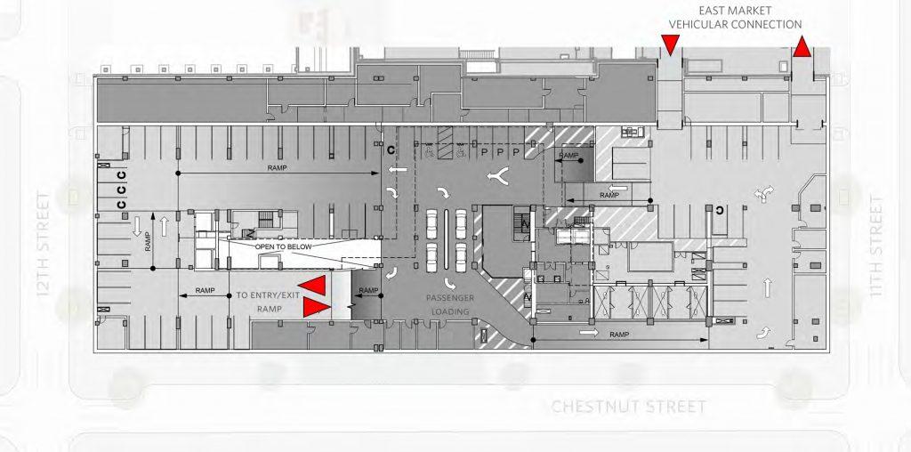 Underground level (P1) at East Market Phase 3. Credit: National Real Estate Development / Ennead Architects / Morris Adjmi / BLTa via CDR