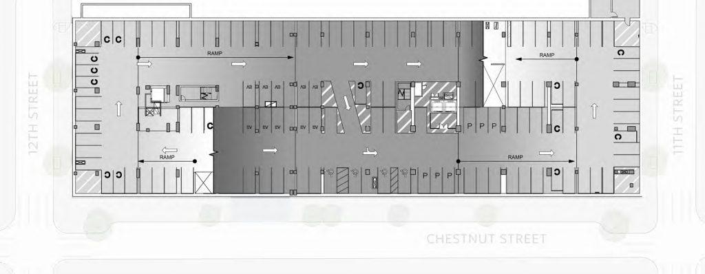 Underground level (P2) at East Market Phase 3. Credit: National Real Estate Development / Ennead Architects / Morris Adjmi / BLTa via CDR