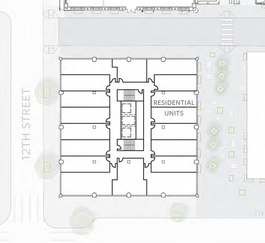 Typical floor plan at Chestnut West at East Market Phase 3. Credit: National Real Estate Development / Ennead Architects / Morris Adjmi / BLTa via CDR
