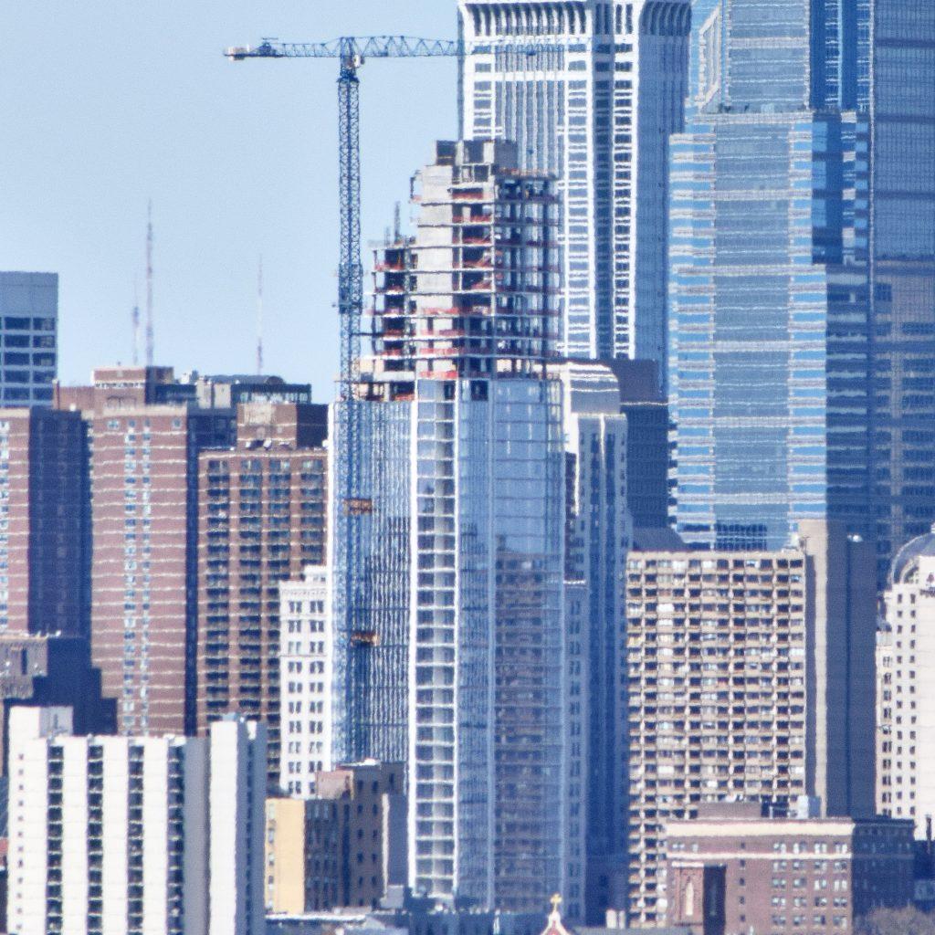 Arthaus with the Center City towers from the Walt Whitman Bridge. Photo by Thomas Koloski