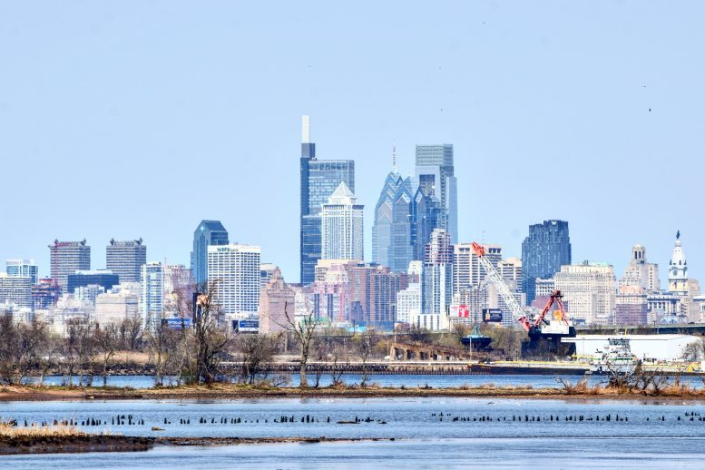 Arthaus in the Philadelphia skyline from New Jersey. Photo by Thomas Koloski