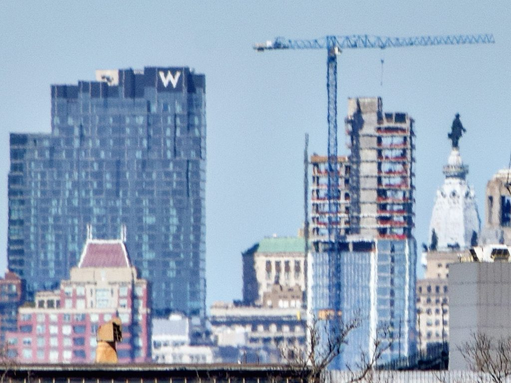 W/Element Hotel, Arthaus, and City Hall from New Jersey. Photo by Thomas Koloski