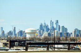 Philadelphia skyline from I-676. Photo by Thomas Koloski