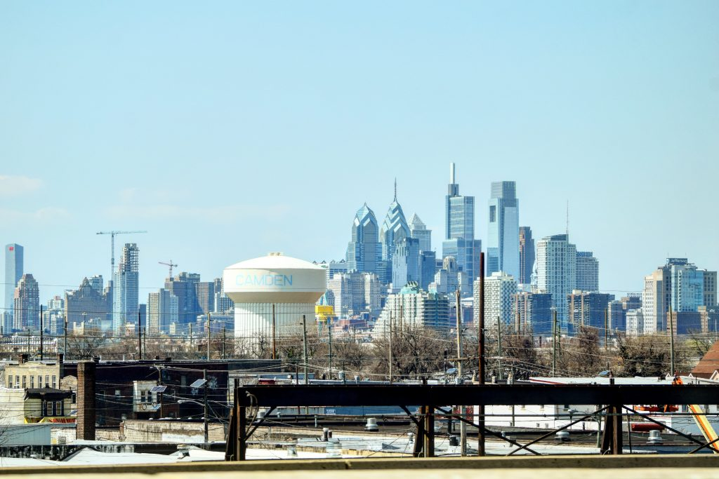 Arthaus in the Philadelphia skyline from I-676. Photo by Thomas Koloski