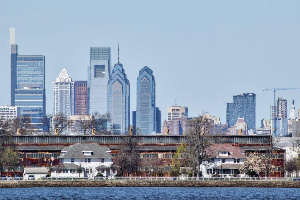 Arthaus (right) in the Philadelphia skyline from New Jersey. Photo by Thomas Koloski