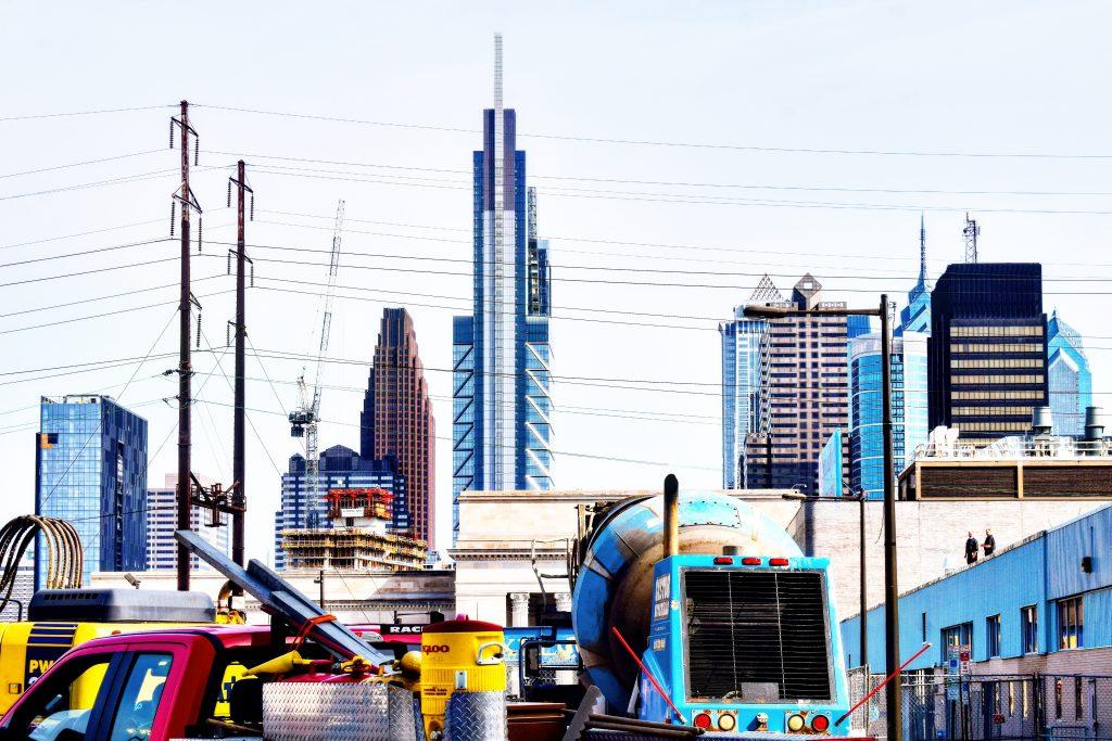Riverwalk north tower from West Philadelphia. Photo by Thomas Koloski