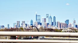Philadelphia skyline from I-95. Photo by Thomas Koloski