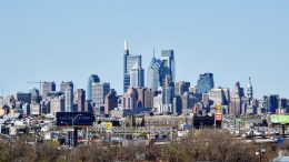 Philadelphia skyline from the Walt Whitman Bridge. Photo by Thomas Koloski