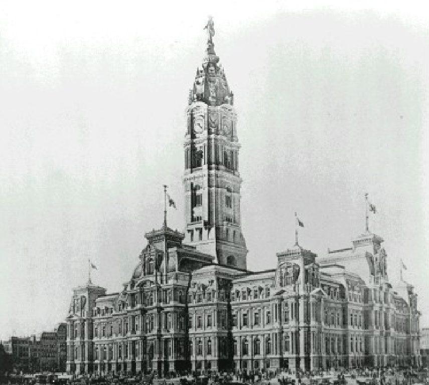 City Hall sketch. Image via Thomas Ustick Walter
