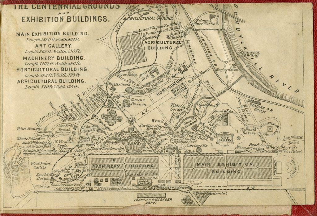 1876 Centennial Exposition map. Image via National Gallery of Art