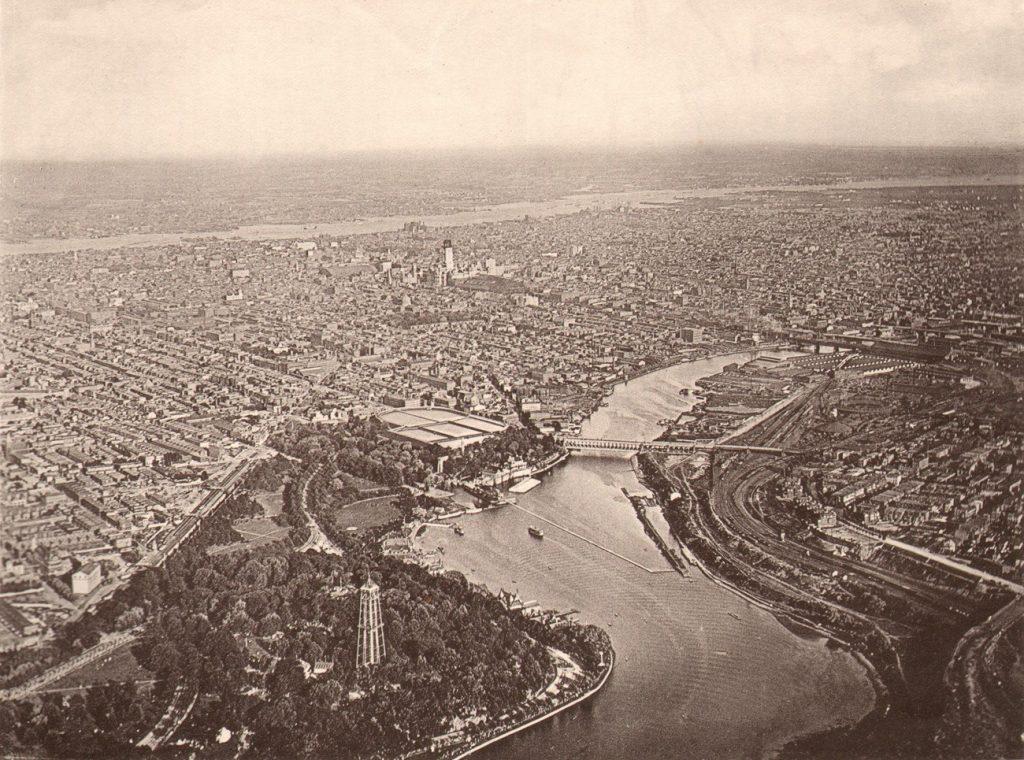Philadelphia from a balloon 1893. Photo by W.N. Jennings