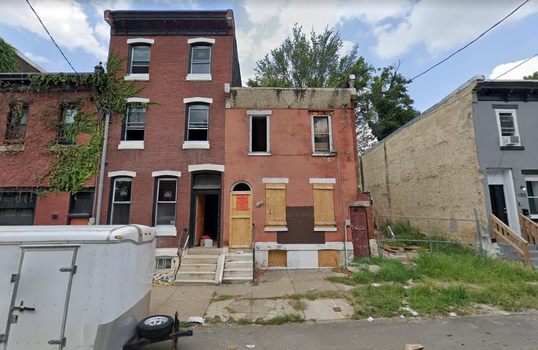 1019 West Dauphin Street. Looking north. Credit: Google
