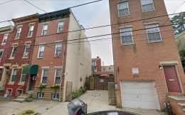 2118-20 Fitzwater Street. Looking southeast, July 2019. Credit: Google