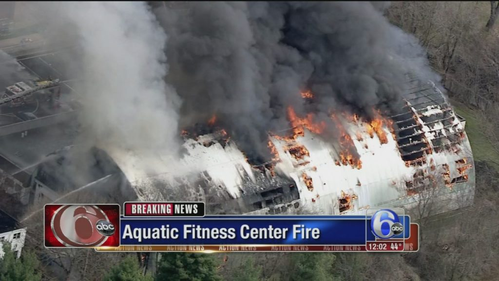 AFC Fitness Center fire. Credit: Channel 6 ABC Action News