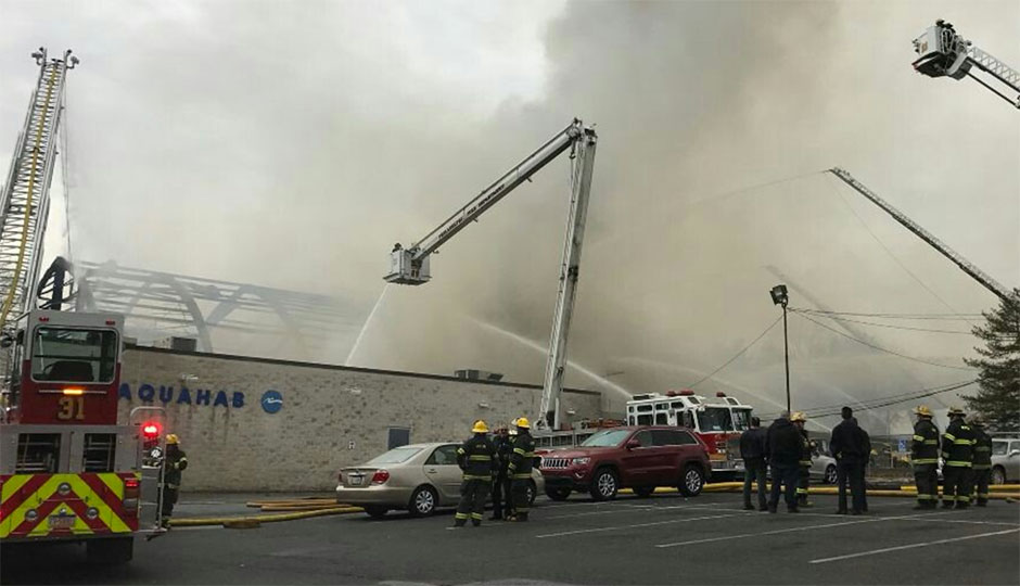 AFC Fitness Center fire. Credit: the Philadelphia Fire Department