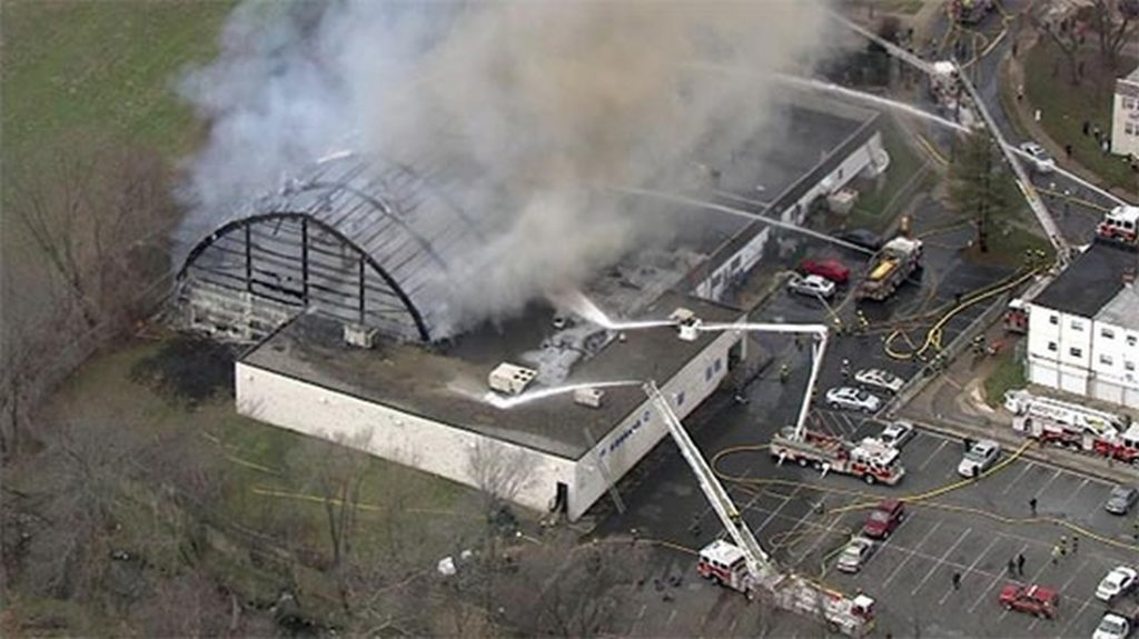 AFC Fitness Center fire. Credit: iRadioPhilly
