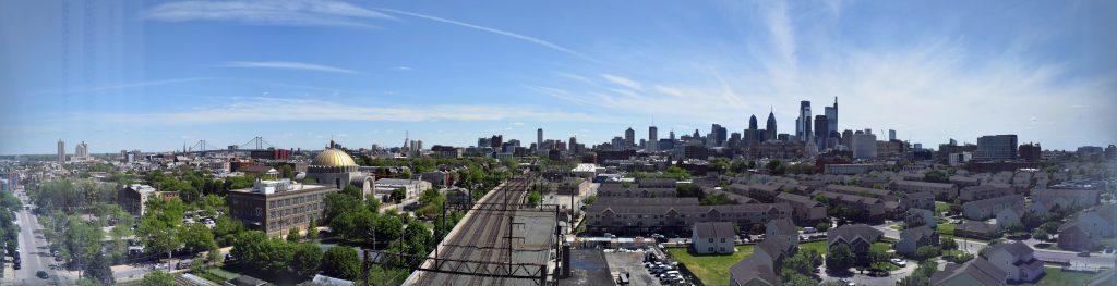 Philadelphia skyline panorama from The Poplar. Photo by Thomas Koloski