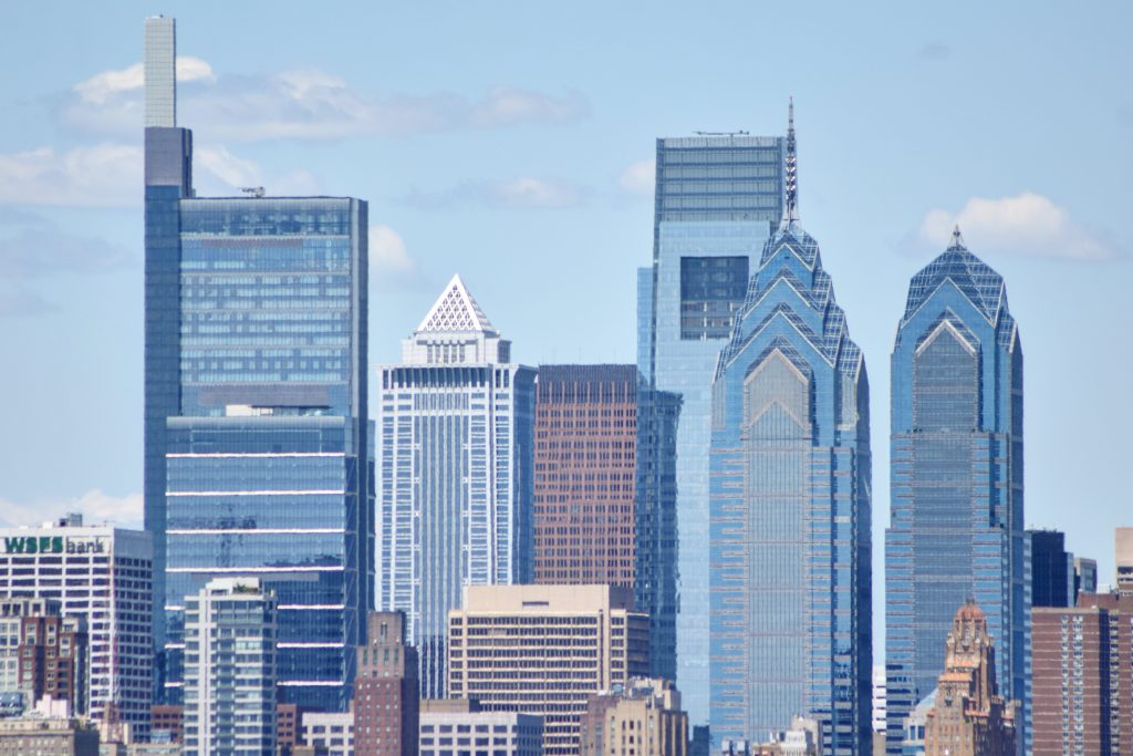Center City towers from Live! Casino and Hotel garage. Photo by Thomas Koloski
