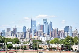 Philadelphia skyline from Live! Casino and Hotel garage. Photo by Thomas Koloski