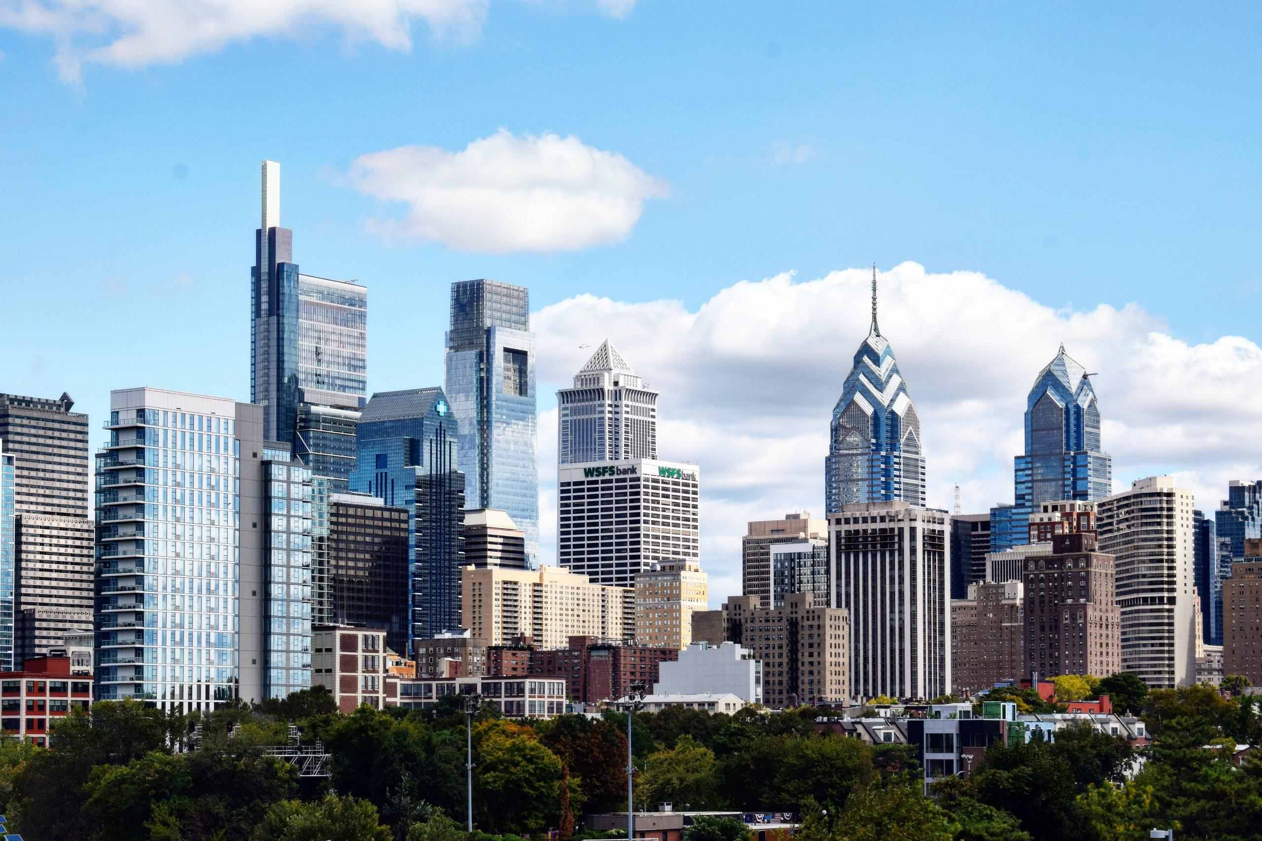 Philadelphia skyline from South Street Bridge. Photo by Thomas Koloski
