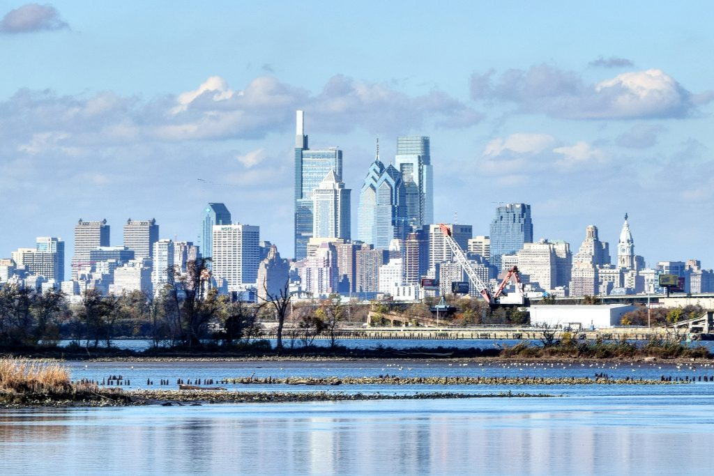 Philadelphia skyline 2020 from New Jersey. Photo by Thomas Koloski