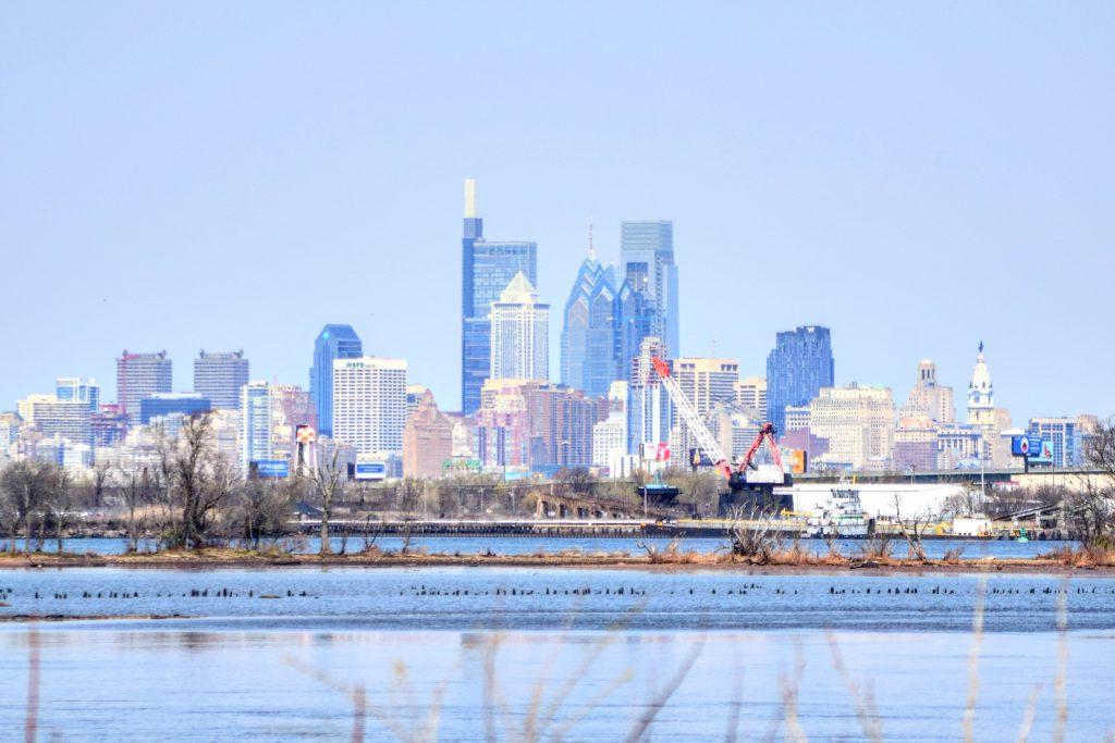 Philadelphia skyline 2021 from New Jersey. Photo by Thomas Koloski